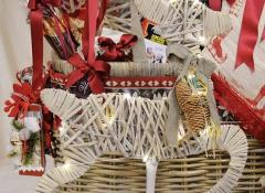 Regalistica aziendaleParticolare decorazione renna con luci Stile Valentine