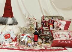 Cesto Cassapanca rosso piccolo con decori Design Valentine