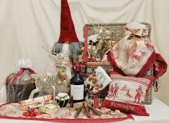 Cesto Cassapanca rosso grande con decori Design Valentine
