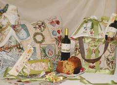 Borsa-cesto natalizio in Rattan piccola Stile Valentine