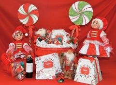 Cesto tondo grande Linea Babbo Natale