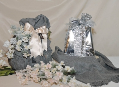 Linea Plaid grigio scuro decoro Design Valentine con Pandoro Muzzi