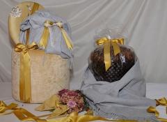 Pouff Giallo oro decoro Design Valentine porta Panettone