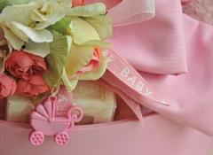 Materiali decorazioni nascita bimbi Stile Valentine