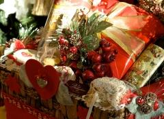 Cesti regalo natalizi Stile Valentine