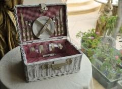 cestino picnic quadretti - Stile Valentine