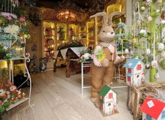 Vetrina Coniglio pasquale decorativo - Stile Valentine